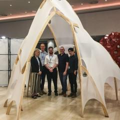 timber pavilion constructed by researchers from UQ