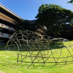 woven bamboo structure